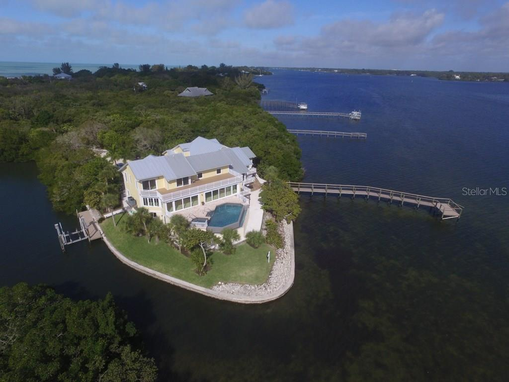 Back Aerial - Single Family Home for sale at 7295 Manasota Key Rd, Englewood, FL 34223 - MLS Number is D5911936