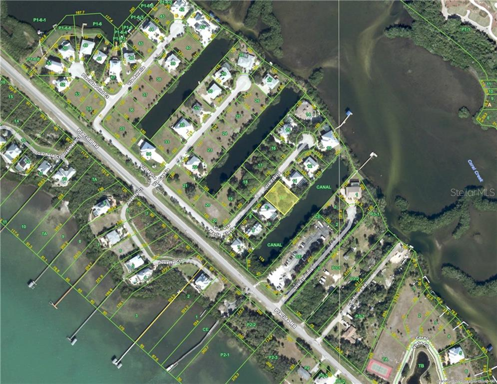 Aerial view - Vacant Land for sale at 13094 Via Flavia, Placida, FL 33946 - MLS Number is D5919733
