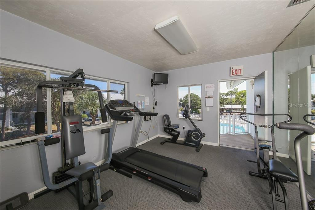 Fitness room for the use of residents - Condo for sale at 6800 Placida Rd #253, Englewood, FL 34224 - MLS Number is D5919792