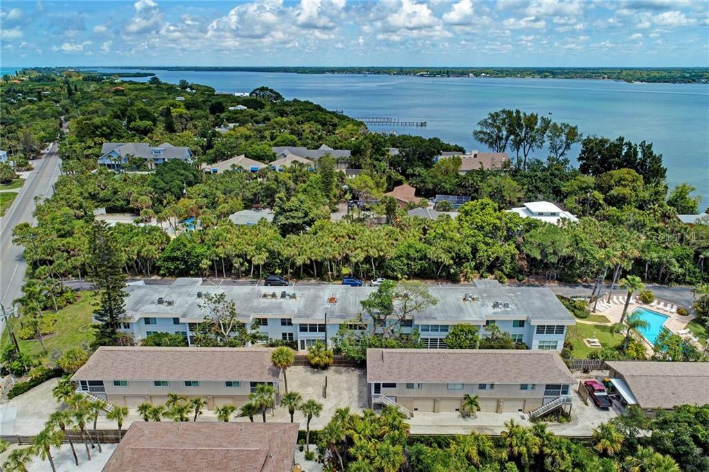 Aerial View - Condo for sale at 5055 N Beach Rd #212, Englewood, FL 34223 - MLS Number is D6100243
