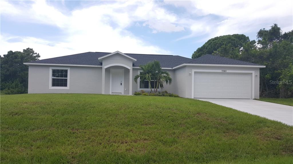 Sunshine III Floor Plan - Single Family Home for sale at 7385 Teaberry St, Englewood, FL 34224 - MLS Number is D6101274