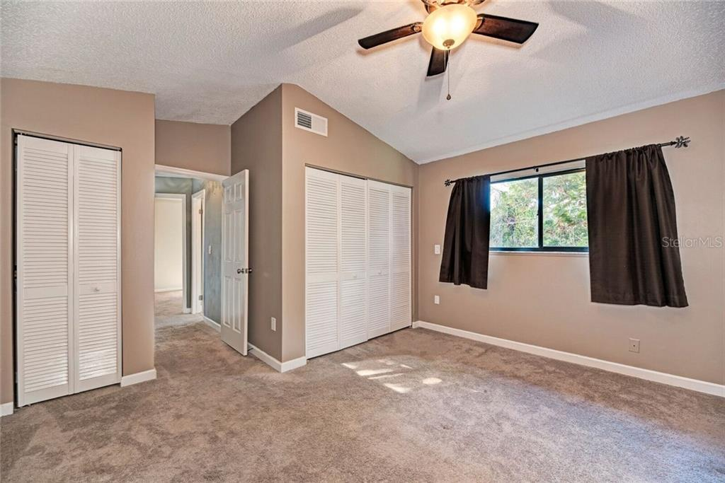 Master bedroom has 2 closets. - Single Family Home for sale at 3723 Shamrock Dr, Venice, FL 34293 - MLS Number is D6102893