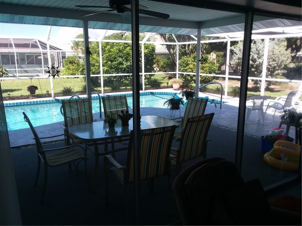 Beautiful Entertainment area on Pool Deck - Single Family Home for sale at 7 Old Trail Rd, Englewood, FL 34223 - MLS Number is D6102912