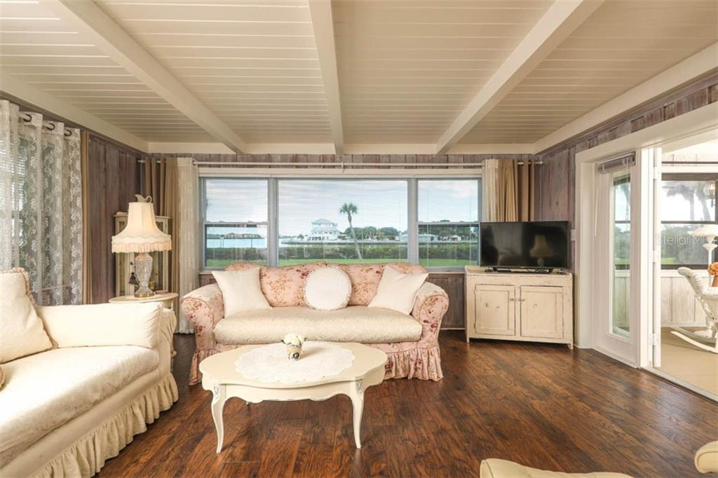 Living Room with Views of Water - Single Family Home for sale at 1626 New Point Comfort Rd, Englewood, FL 34223 - MLS Number is D6108454
