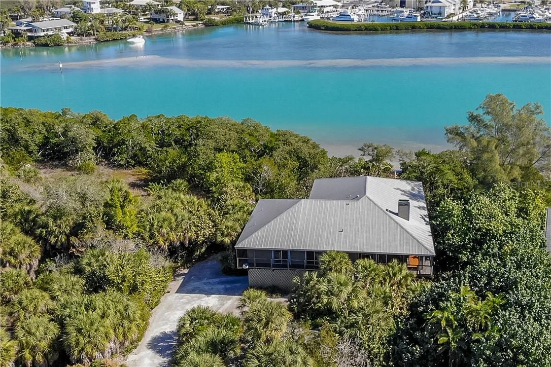 Aerial View of Home. - Single Family Home for sale at 5 Pointe Way, Placida, FL 33946 - MLS Number is D6110468