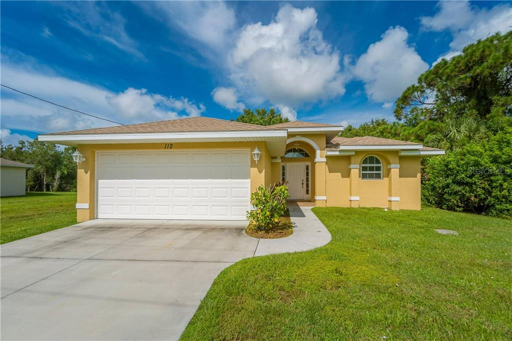 FRONT OF 112 BOXWOOD LANE. - Single Family Home for sale at 112 Boxwood Ln, Rotonda West, FL 33947 - MLS Number is D6114179