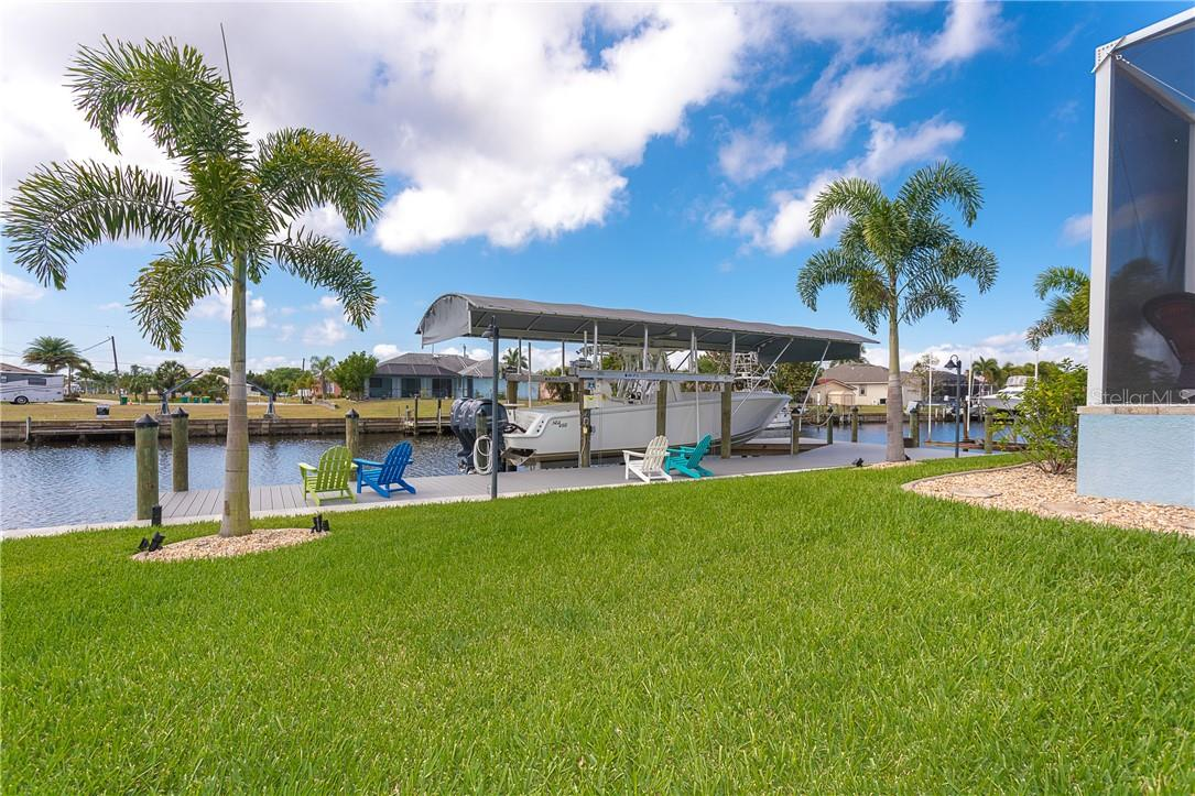 Room to hold a large boat with this 16,000lb lift - Single Family Home for sale at 145 Leland St Se, Port Charlotte, FL 33952 - MLS Number is D6117438