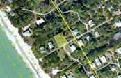 Aerial showing lot 4th back from the beach. - Vacant Land for sale at 8232 Little Gasparilla Is, Placida, FL 33946 - MLS Number is D5917030