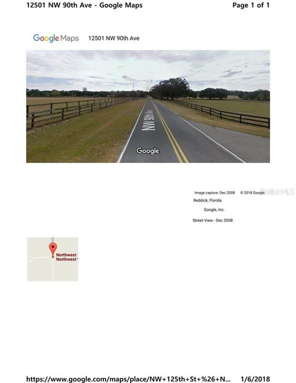 Vacant Land for sale at 0 Nw 125th St & Nw90th Av, Reddick, FL 32686 - MLS Number is T2919757