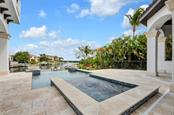 Infinity edge heated pool and spa - Single Family Home for sale at 1400 Harbor Sound Dr, Longboat Key, FL 34228 - MLS Number is T2932520