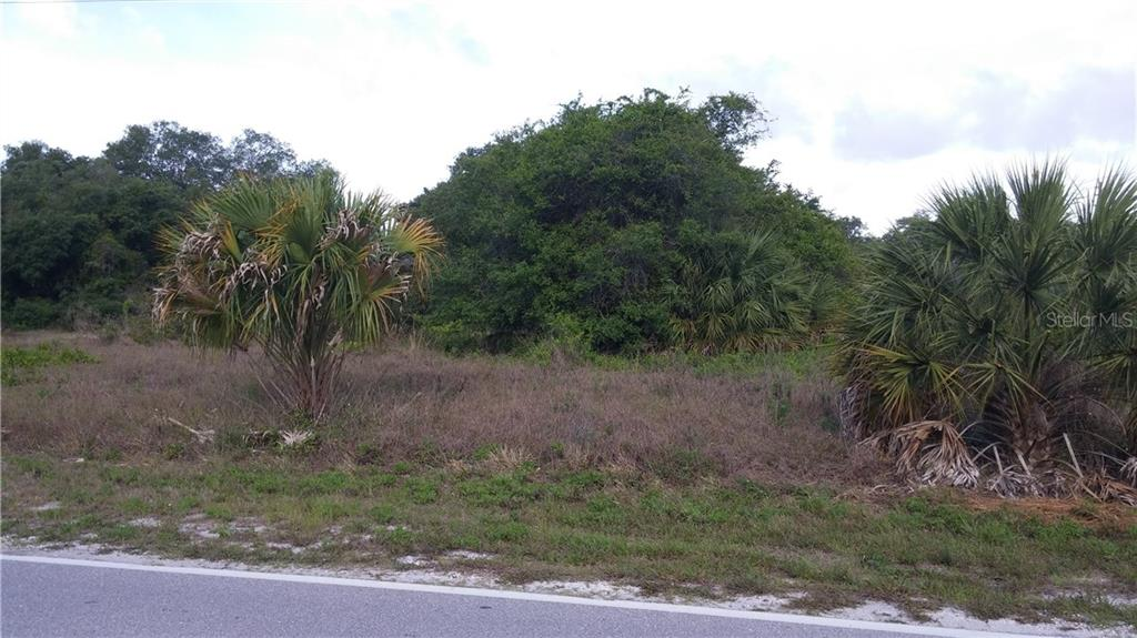 VIEW FROM THE STREET - Vacant Land for sale at 156 Flanders St, Port Charlotte, FL 33954 - MLS Number is C7224328