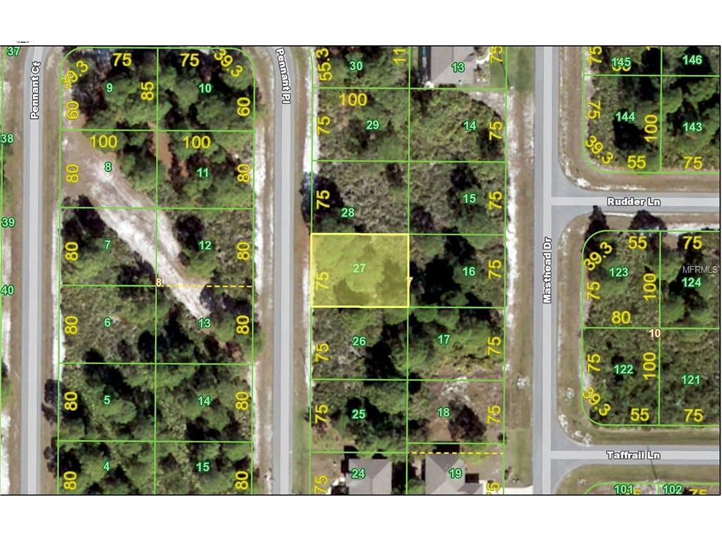 Vacant Land for sale at 27 Pennant Pl, Placida, FL 33946 - MLS Number is C7226699