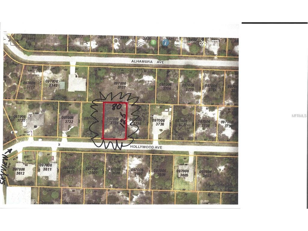 Vacant Land for sale at Hollywood Ave, North Port, FL 34291 - MLS Number is C7231898