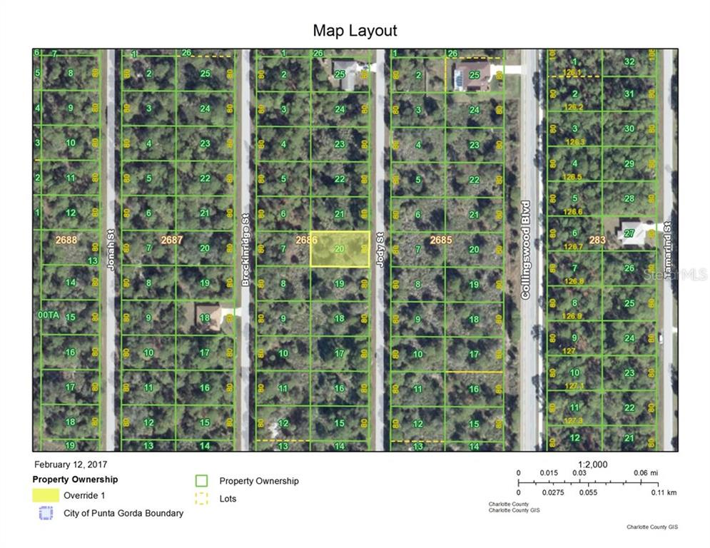 Vacant Land for sale at 3121 Jody St, Port Charlotte, FL 33948 - MLS Number is C7235944
