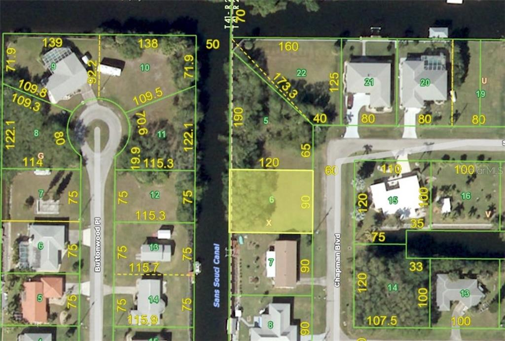 Aerial View - Vacant Land for sale at 3013 Chapman Blvd, Punta Gorda, FL 33950 - MLS Number is C7236430
