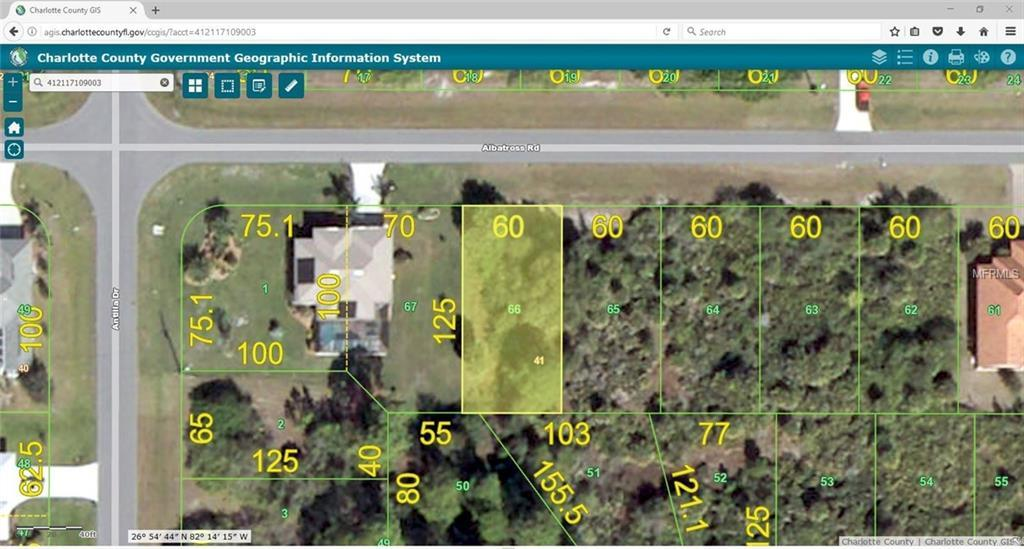 Vacant Land for sale at 421 Albatross Rd, Rotonda West, FL 33947 - MLS Number is C7239578