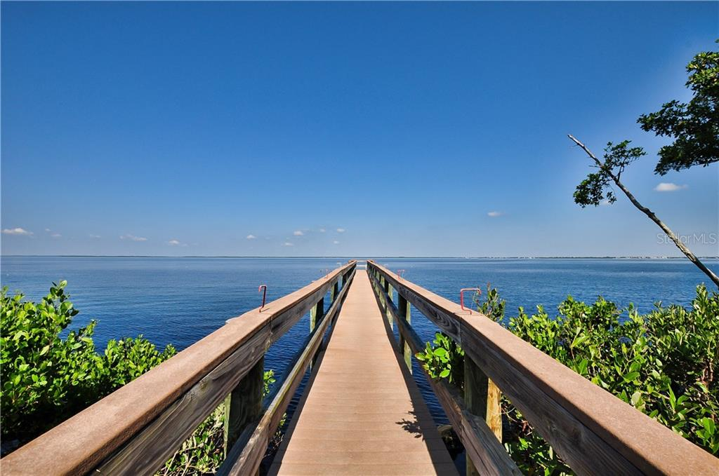 Fishing pier overlooking Charlotte Harbor - Condo for sale at 95 N Marion Ct #136, Punta Gorda, FL 33950 - MLS Number is C7243837
