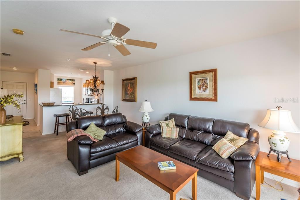Living and Dining Area. - Condo for sale at 8413 Placida Rd #403, Placida, FL 33946 - MLS Number is C7401304
