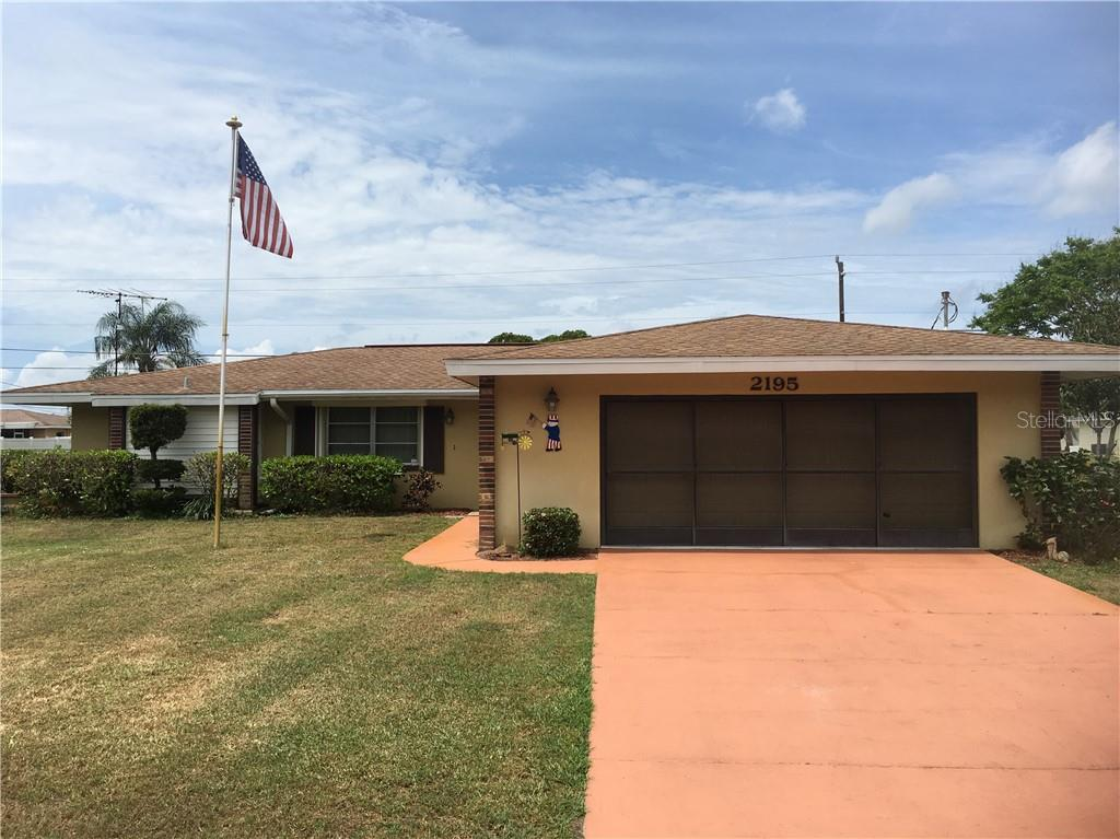 Front Elevation - Single Family Home for sale at 2195 Abscott St, Port Charlotte, FL 33952 - MLS Number is C7414291