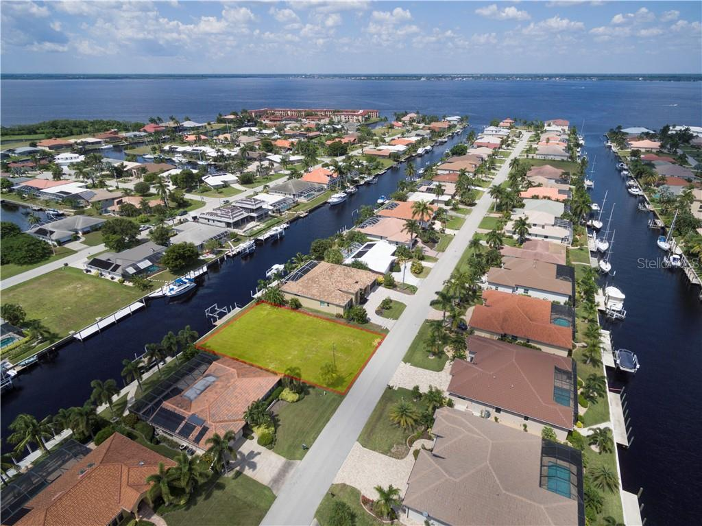 Stellar western facing 80' x 120' sailboat access lot with quick access. - Vacant Land for sale at 53 Tropicana Dr, Punta Gorda, FL 33950 - MLS Number is C7420346