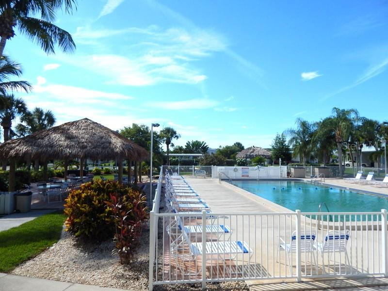 Large heated pool - Manufactured Home for sale at 31 Freeman Ave, Punta Gorda, FL 33950 - MLS Number is C7420702