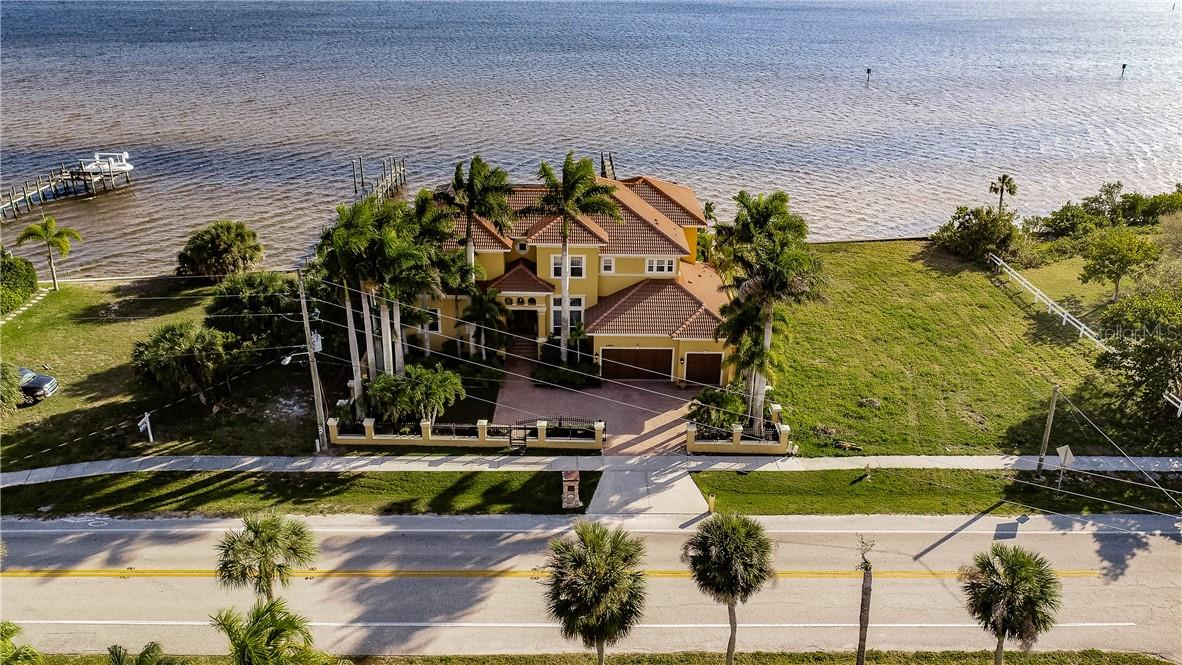FRONT AERIAL - Single Family Home for sale at 4484 Harbor Blvd, Port Charlotte, FL 33952 - MLS Number is C7426993