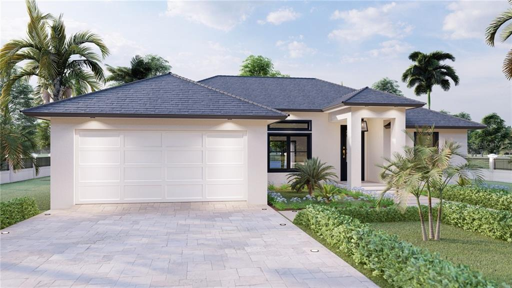 This is a rendering. Paver driveway and landscaping is not included with the standard package. - Single Family Home for sale at 23192 Mac Dougall Ave, Port Charlotte, FL 33980 - MLS Number is C7430414