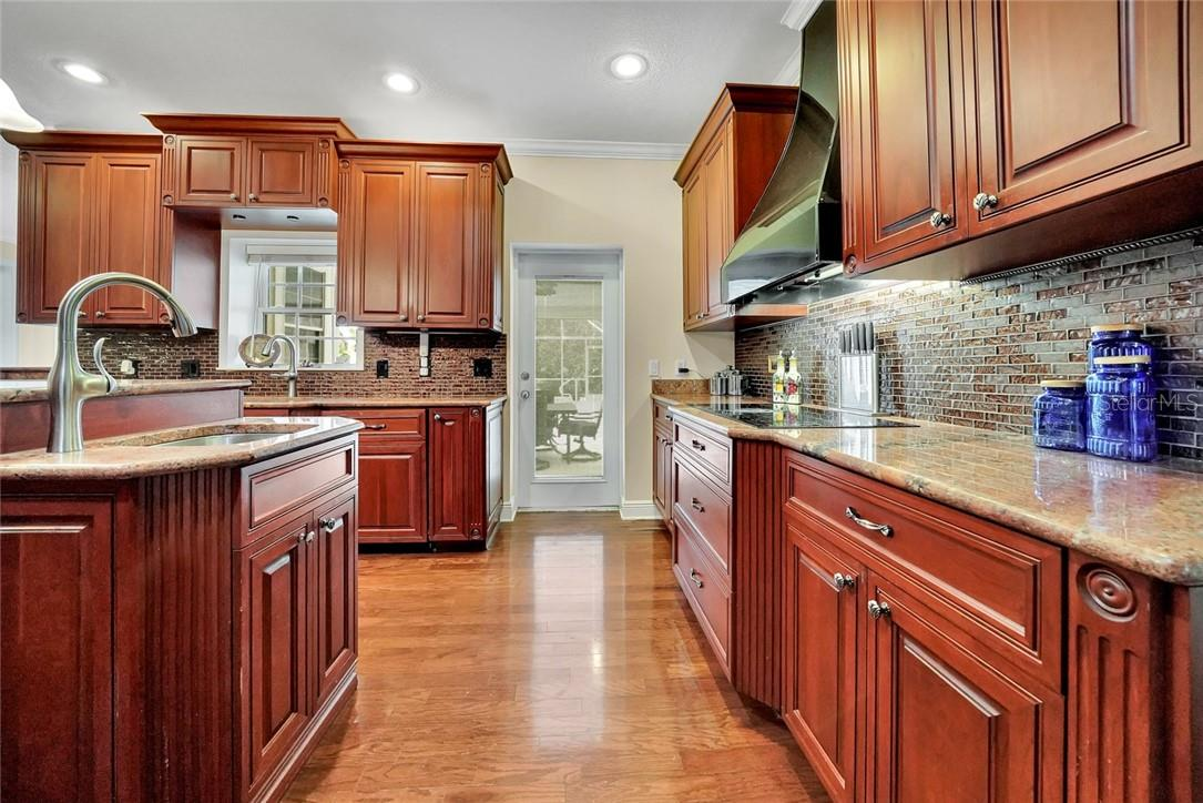 Beautiful granite counter tops, deco backsplash, French door to the Lanai - Single Family Home for sale at 10230 Sw County Road 769, Arcadia, FL 34269 - MLS Number is C7437596