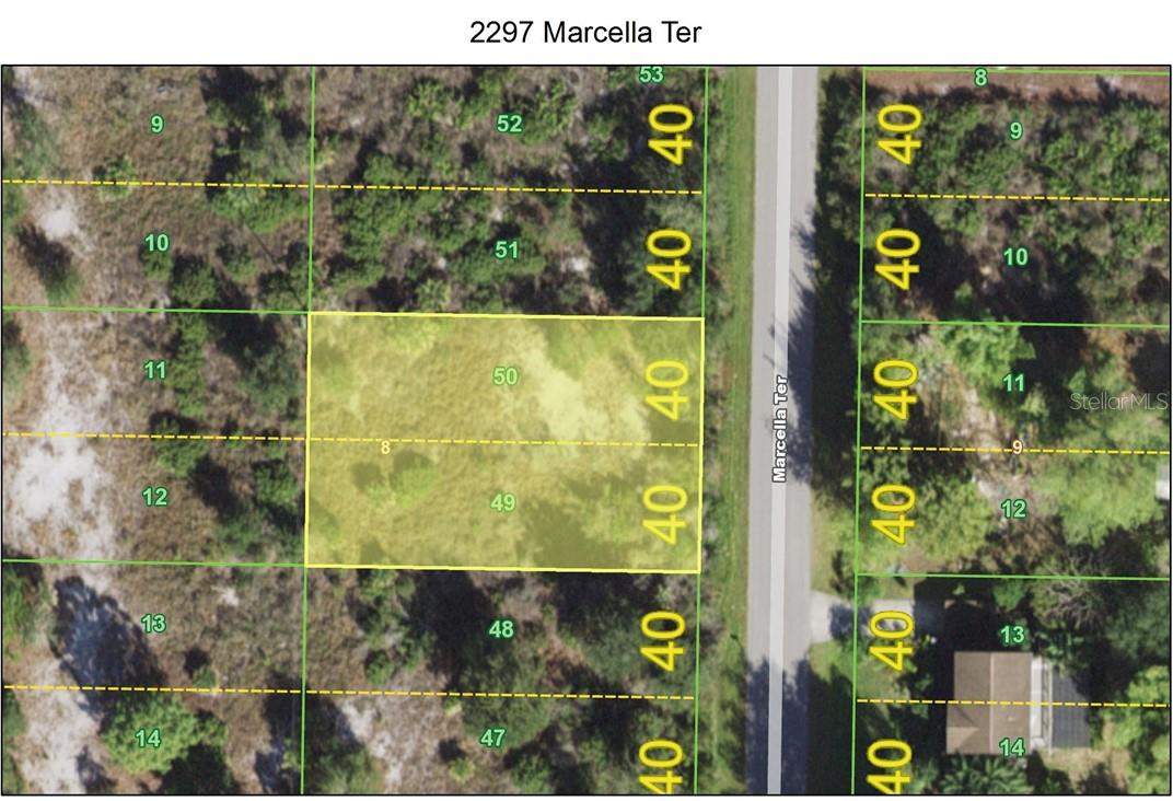 Aerial - Not in the flood zone - Vacant Land for sale at 2297 Marcella Ter, Punta Gorda, FL 33983 - MLS Number is C7438527