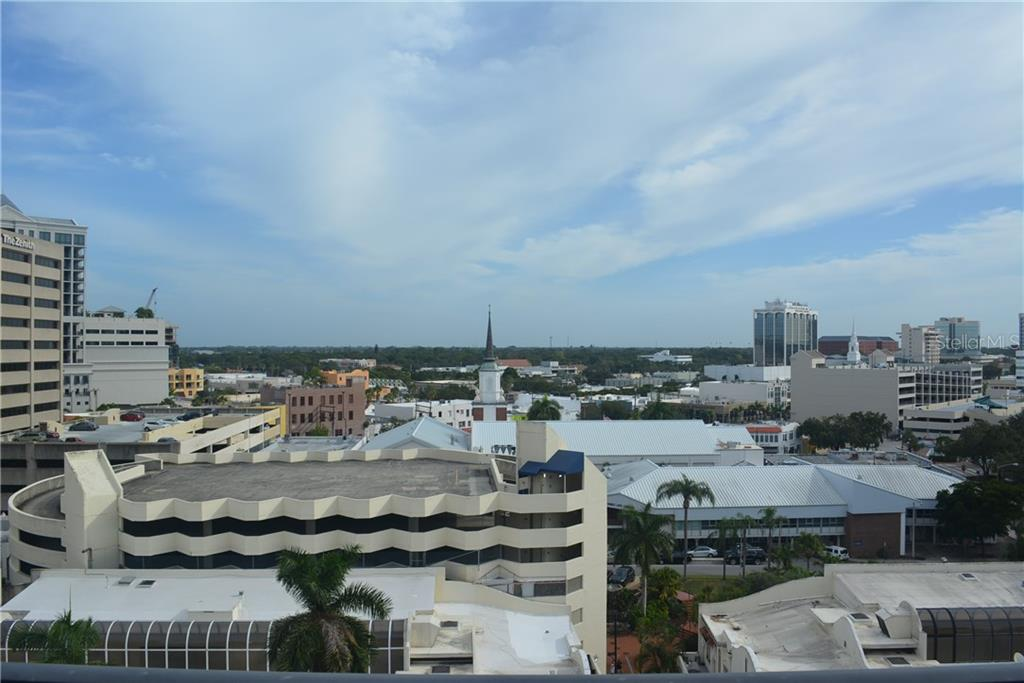 city view from the balcony - Condo for sale at 101 S Gulfstream Ave #11a, Sarasota, FL 34236 - MLS Number is A4168207