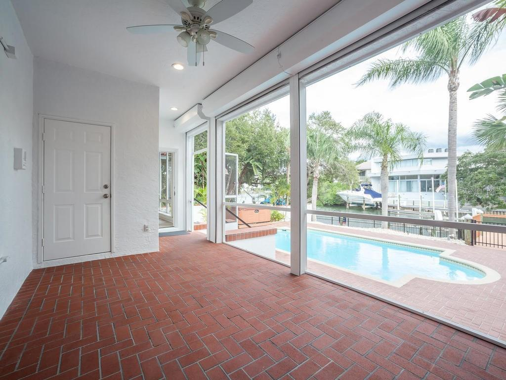 Covered brick lanai - Single Family Home for sale at 4789 Higel Ave, Sarasota, FL 34242 - MLS Number is A4169949