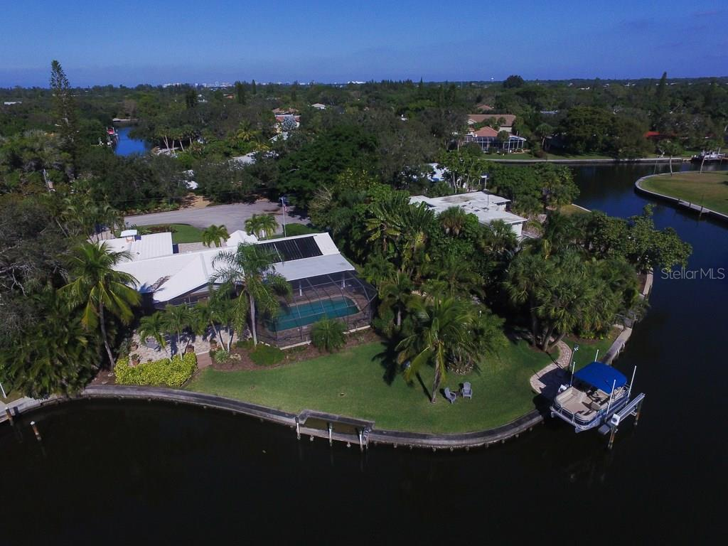 Aerial rear view. - Single Family Home for sale at 5281 Cape Leyte Way, Sarasota, FL 34242 - MLS Number is A4171478