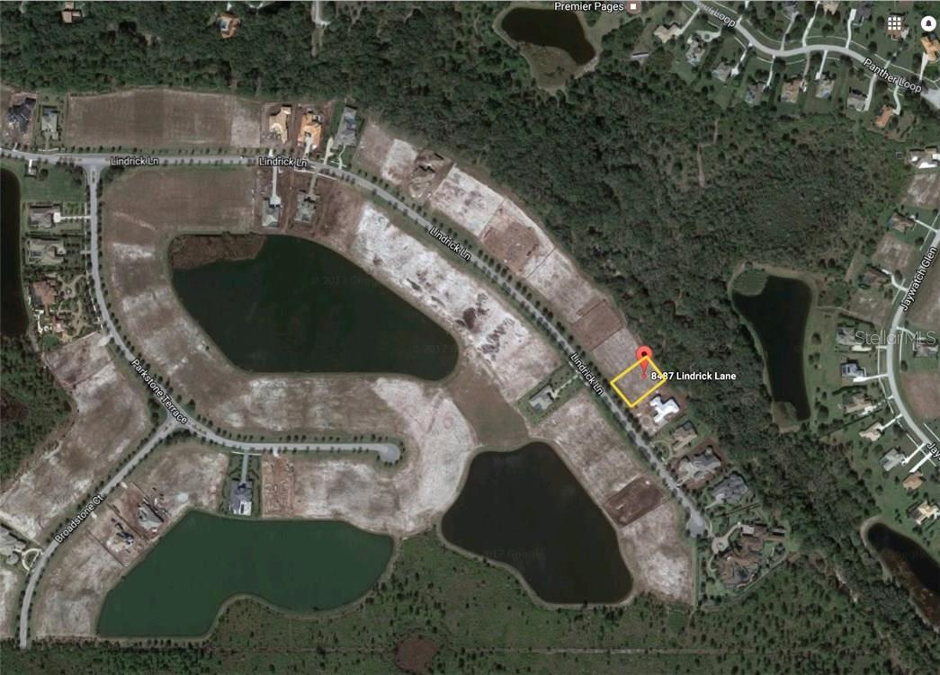 Aerial view of Lot 36, 8487 Lindrick Lane - Vacant Land for sale at 8487 Lindrick Ln, Bradenton, FL 34202 - MLS Number is A4174534