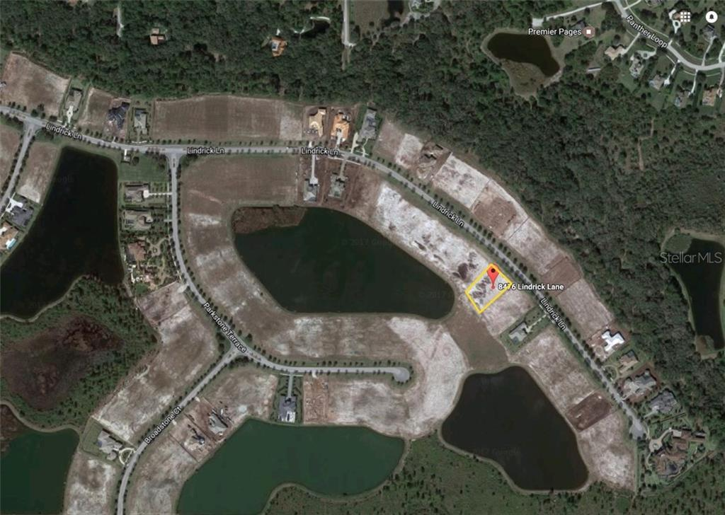 Aerial view of Lot 51, 8476 Lindrick Lane - Vacant Land for sale at 8476 Lindrick Ln, Bradenton, FL 34202 - MLS Number is A4174536