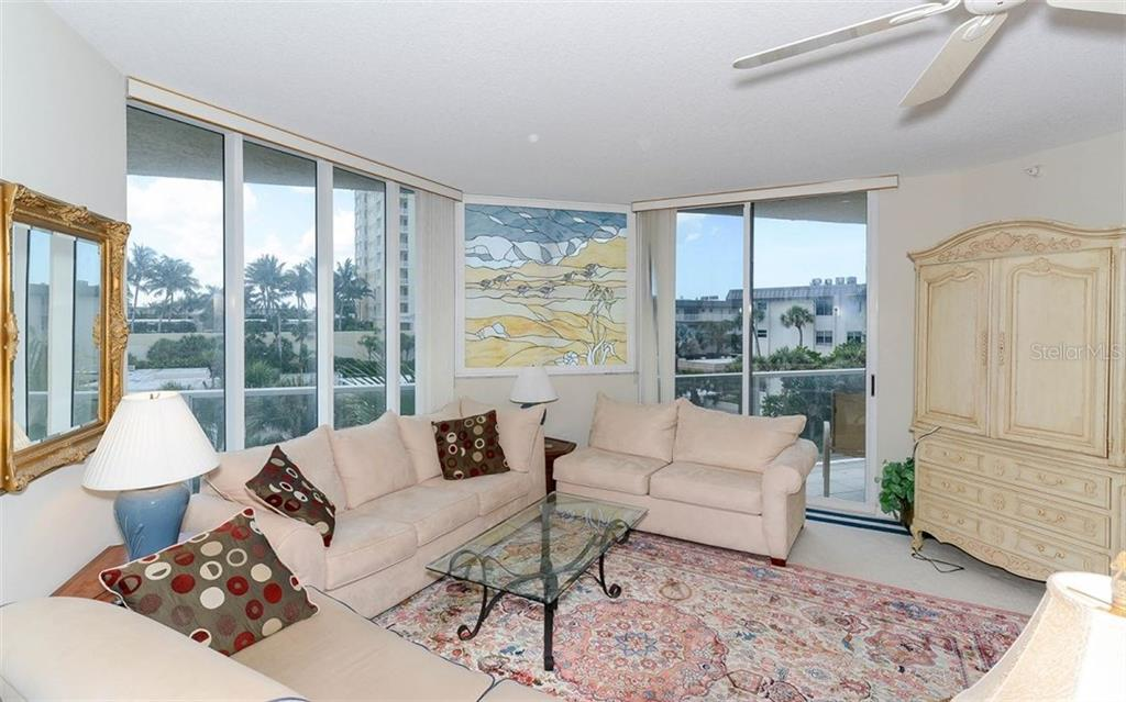 Light and bright living room - Condo for sale at 1800 Benjamin Franklin Dr #a202, Sarasota, FL 34236 - MLS Number is A4187131