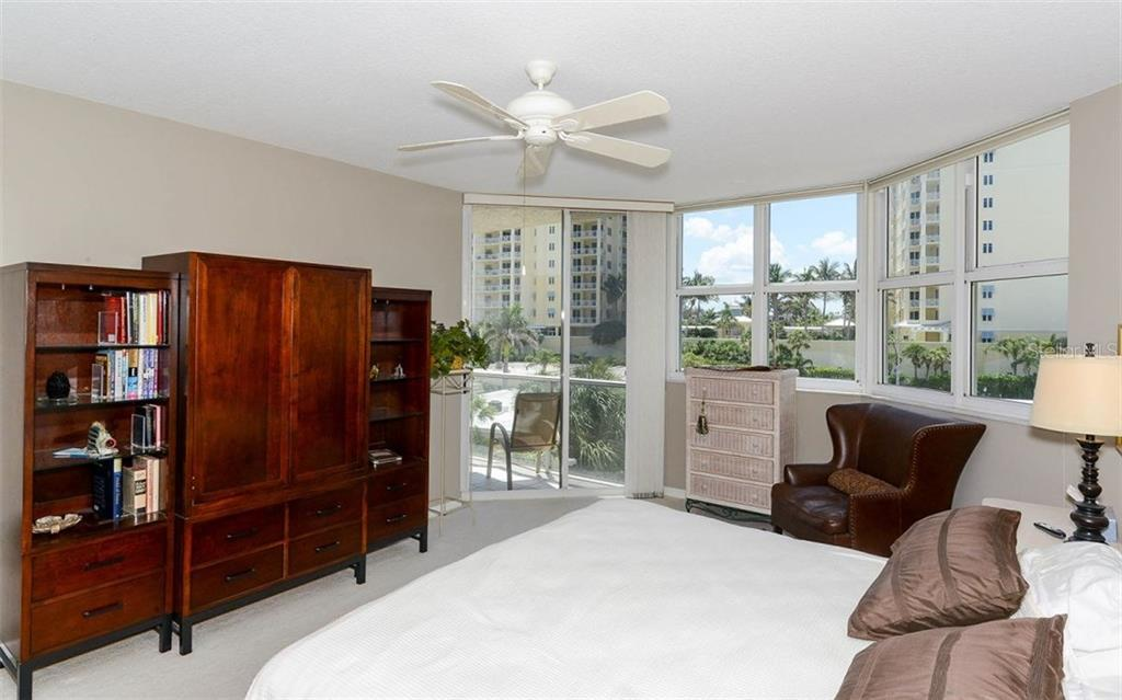 Terrace off master bedroom - Condo for sale at 1800 Benjamin Franklin Dr #a202, Sarasota, FL 34236 - MLS Number is A4187131