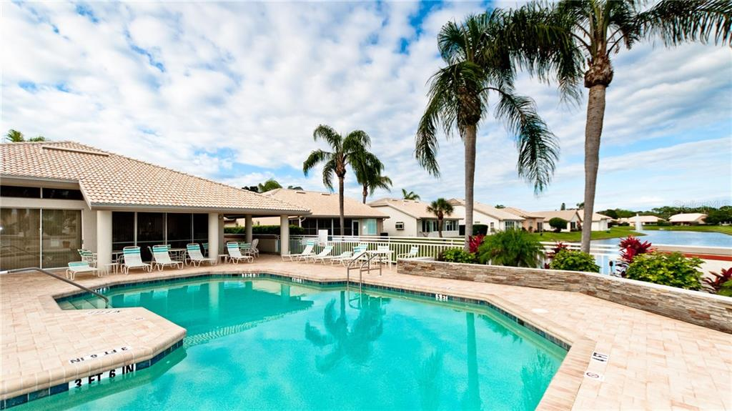 Community heated pool & clubhouse with water views. - Single Family Home for sale at 4517 Galloway Blvd, Bradenton, FL 34210 - MLS Number is A4187598