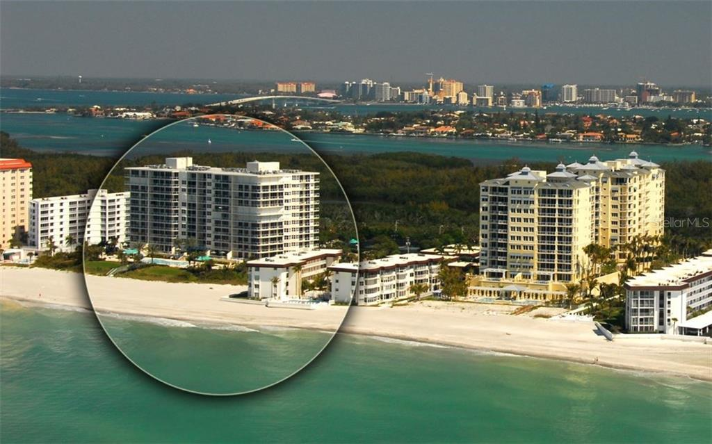 West to East view of L'ELEGANCE on Lido Beach - Condo for sale at 1800 Benjamin Franklin Dr #b507, Sarasota, FL 34236 - MLS Number is A4188540