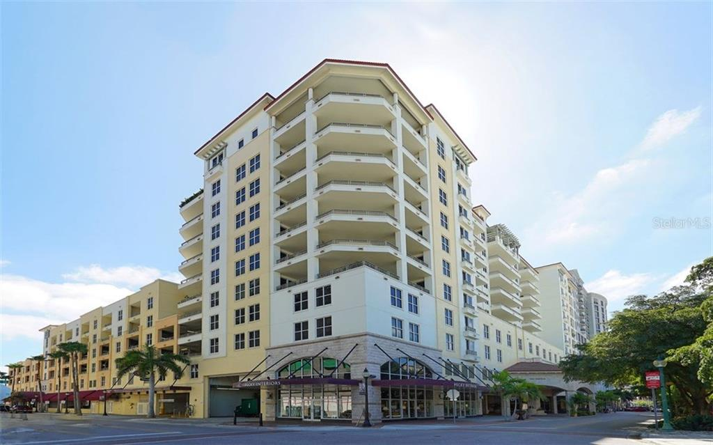 NORTHWEST CORNER OF THE BUILDING. - Condo for sale at 100 Central Ave #h716, Sarasota, FL 34236 - MLS Number is A4193586