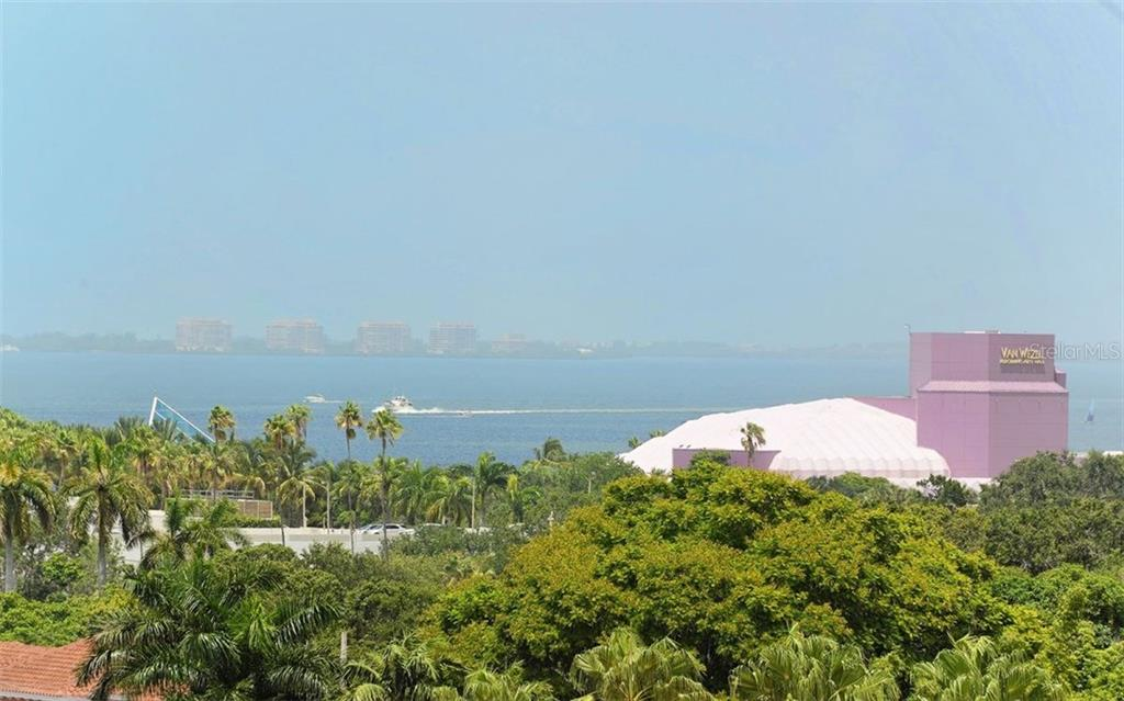 VIEW FROM THE BALCONY - Condo for sale at 100 Central Ave #h716, Sarasota, FL 34236 - MLS Number is A4193586