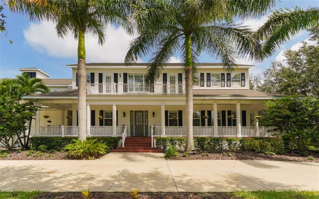 Magnificent, stately old-Florida style home, solidly- built with siding over concrete block. Wrap around porch with automatic irrigation system with timer for plants. Every room upstairs whether on the front or back of the home opens to a balcony. - Single Family Home for sale at 9818 9th Ave Nw, Bradenton, FL 34209 - MLS Number is A4194125