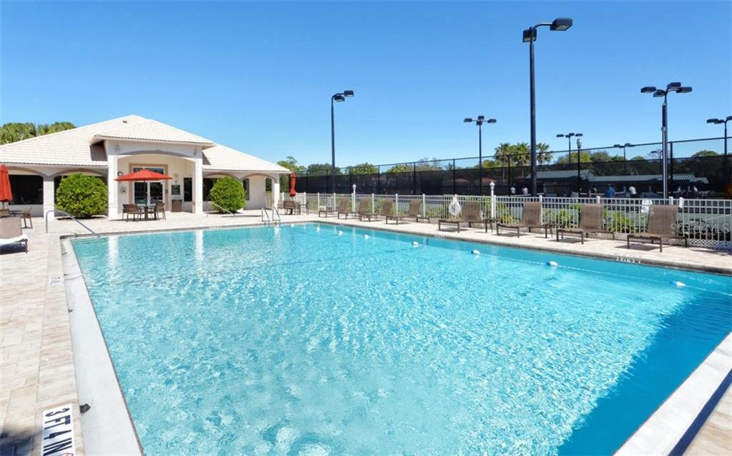 Stoneybrook Golf & Country Club heated community pool, fitness center and tennis courts. - Condo for sale at 9570 High Gate Dr #1712, Sarasota, FL 34238 - MLS Number is A4196327