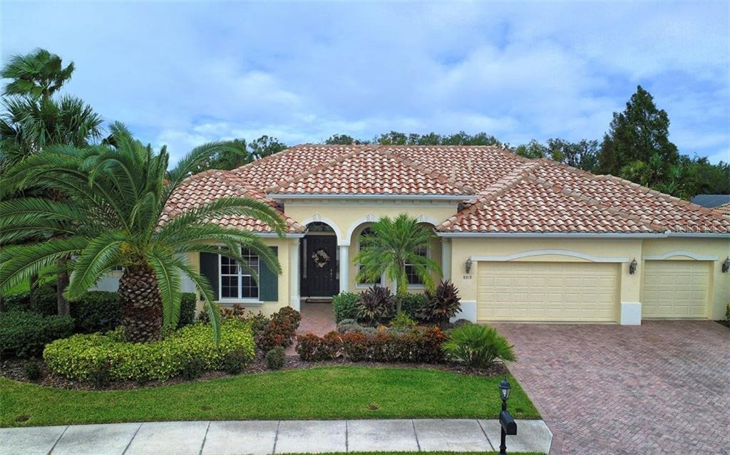 Front Exterior - Single Family Home for sale at 9919 Portside Ter, Bradenton, FL 34212 - MLS Number is A4197815