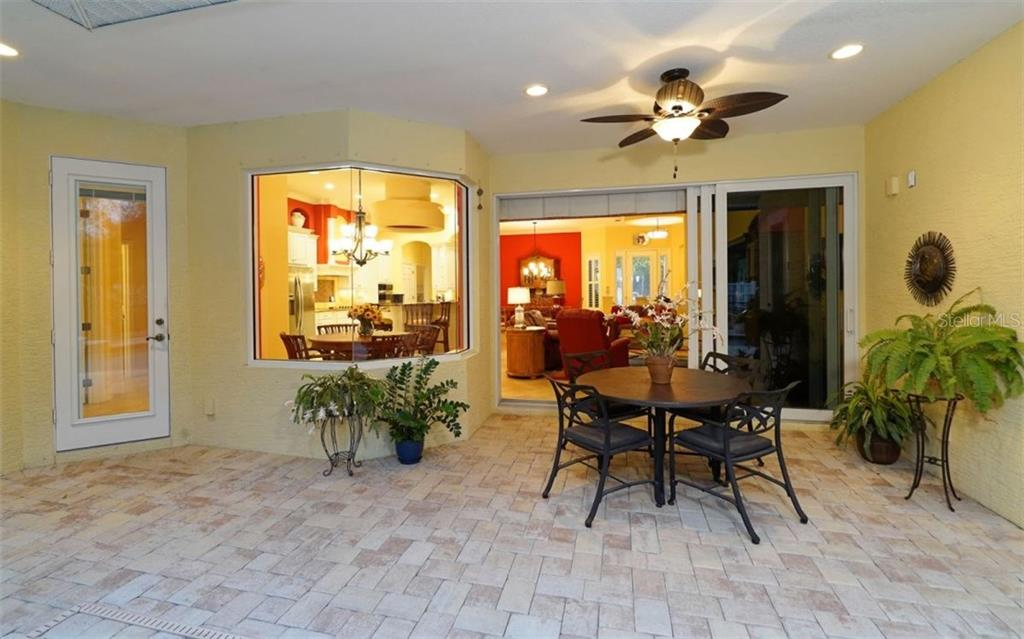 Covered lanai space perfect for relaxing by the pool - Single Family Home for sale at 1746 Hillview St, Sarasota, FL 34239 - MLS Number is A4202985