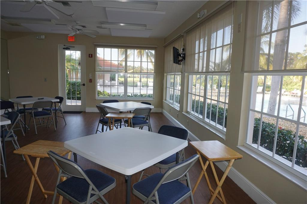 Clubhouse social room - Single Family Home for sale at 508 Marsh Creek Rd, Venice, FL 34292 - MLS Number is A4204933