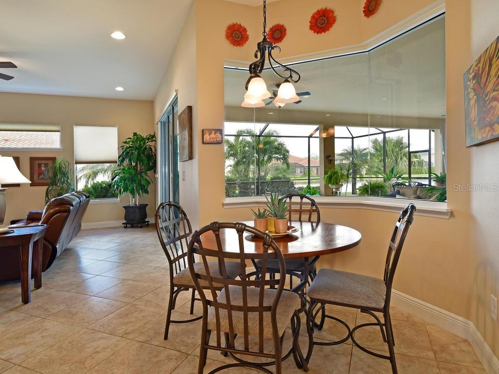 Enjoy the view from the breakfast nook! - Single Family Home for sale at 6601 Horned Owl Pl, Sarasota, FL 34241 - MLS Number is A4205612