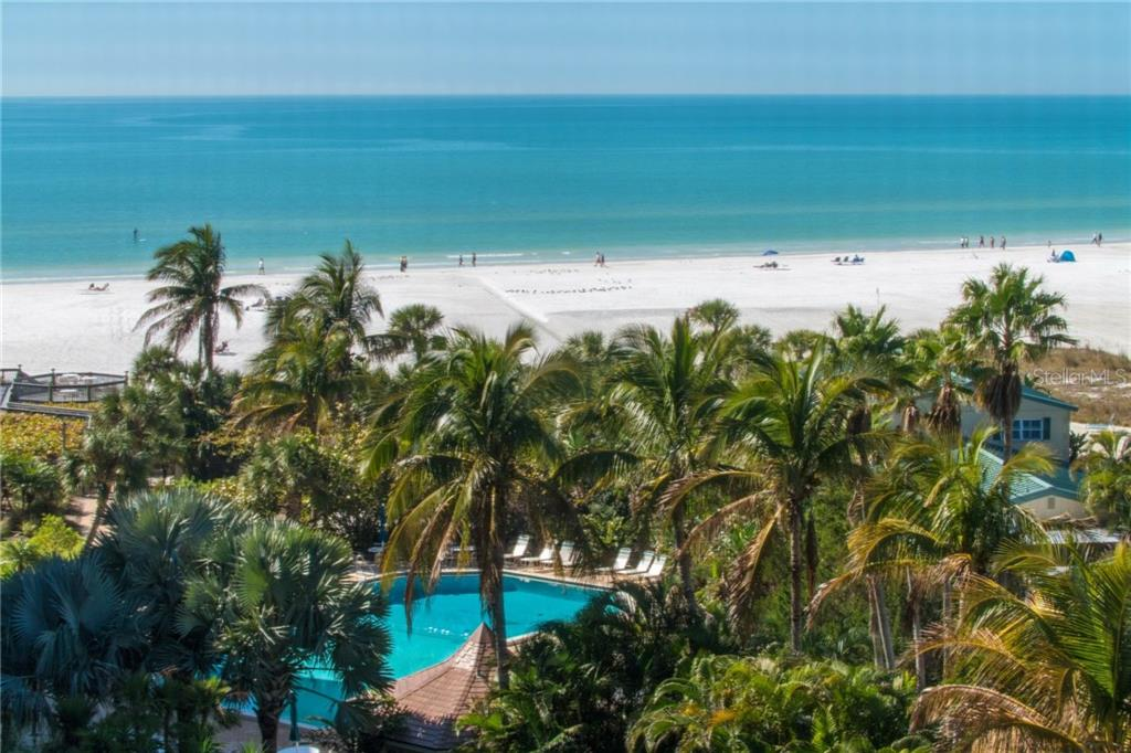 View of Gulf of Mexico and Siesta Beach from residence - Condo for sale at 5880 Midnight Pass Rd #511, Sarasota, FL 34242 - MLS Number is A4207131