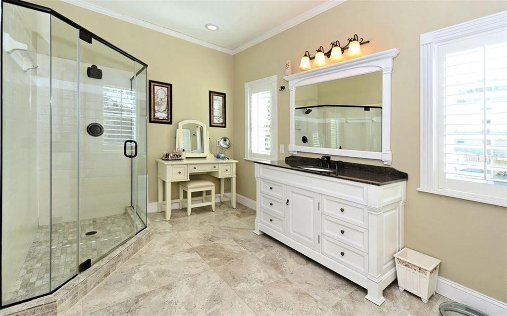 Master bathroom with walk-in shower - Single Family Home for sale at 141 Ogden St, Sarasota, FL 34242 - MLS Number is A4208039