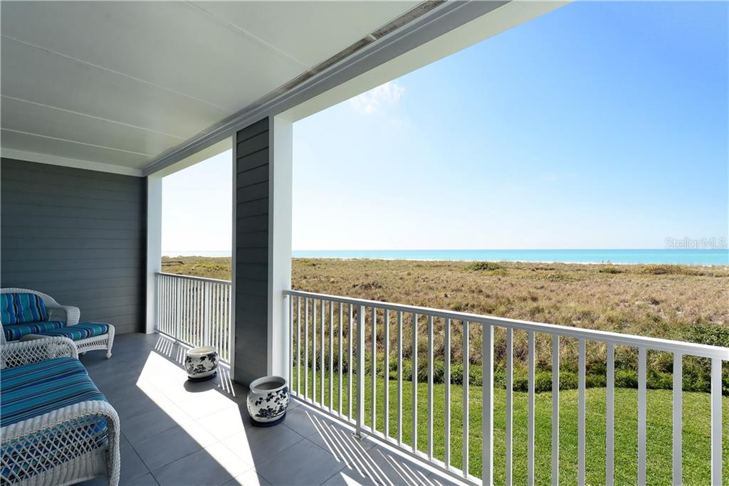 Gulf front terrace off master bedroom - Townhouse for sale at 6843 Gulf Of Mexico Dr, Longboat Key, FL 34228 - MLS Number is A4208726
