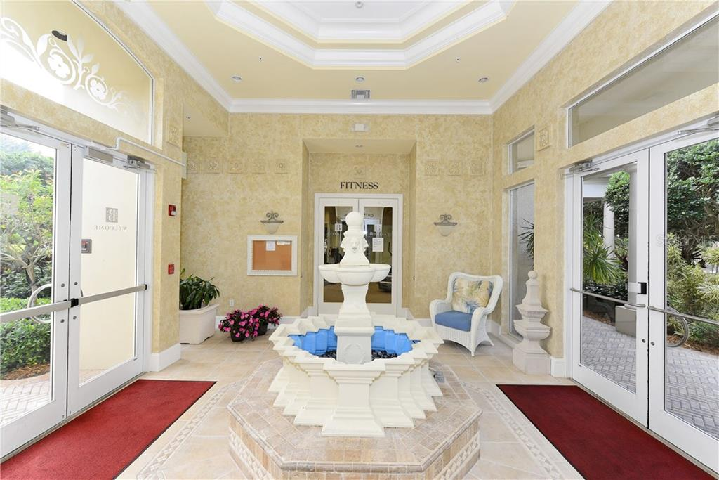 Community center foyer. - Condo for sale at 5242 Parisienne Pl #201bd30, Sarasota, FL 34238 - MLS Number is A4208770